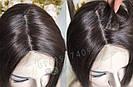 💎Натуральный женский парик коричневый с имитацией кожи, натуральный волос 💎, фото 9