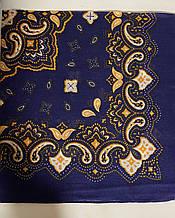 Хлопковая бандана (платок) классика рисунок цвет синий