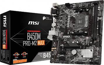 Материнская плата MSI B450M Pro-M2 Max (sAM4, AMD B450, PCI-Ex16)