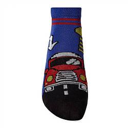 Носки демисезонные укороченные для мальчика, Машинка, V&T (размер 12-14)