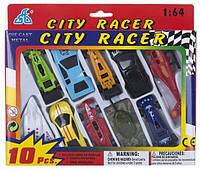 Іграшковий набір GW міні транспорт CITI RACER 1:64 10шт.