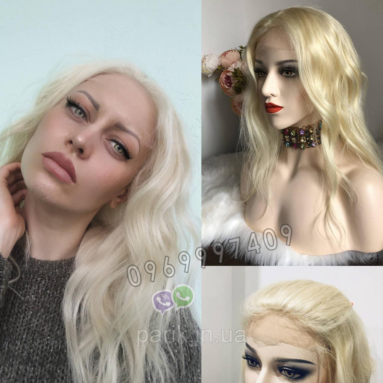 💎Натуральний жіночий парик баклажан з чубчиком, натуральний волосся 💎
