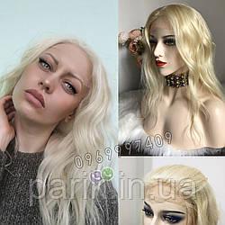 💎Натуральный женский парик блонд без чёлки (имитация кожи головы) 💎