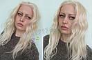 💎Натуральний жіночий парик баклажан з чубчиком, натуральний волосся 💎, фото 4