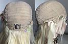 💎Натуральний жіночий парик баклажан з чубчиком, натуральний волосся 💎, фото 5