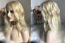 💎Натуральный женский парик блонд без чёлки (имитация кожи головы) 💎, фото 10