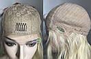 💎Натуральний жіночий парик баклажан з чубчиком, натуральний волосся 💎, фото 8