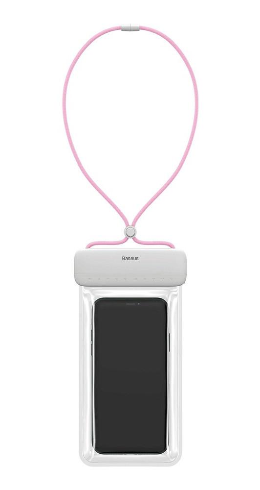 """Чехол-сумка водонепроницаемая для телефона Baseus Let's go 7.2"""" Белый/ Розовый (ACFSD-D24)"""