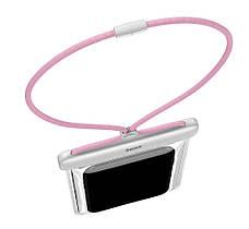 """Чехол-сумка водонепроницаемая для телефона Baseus Let's go 7.2"""" Белый/ Розовый (ACFSD-D24), фото 3"""