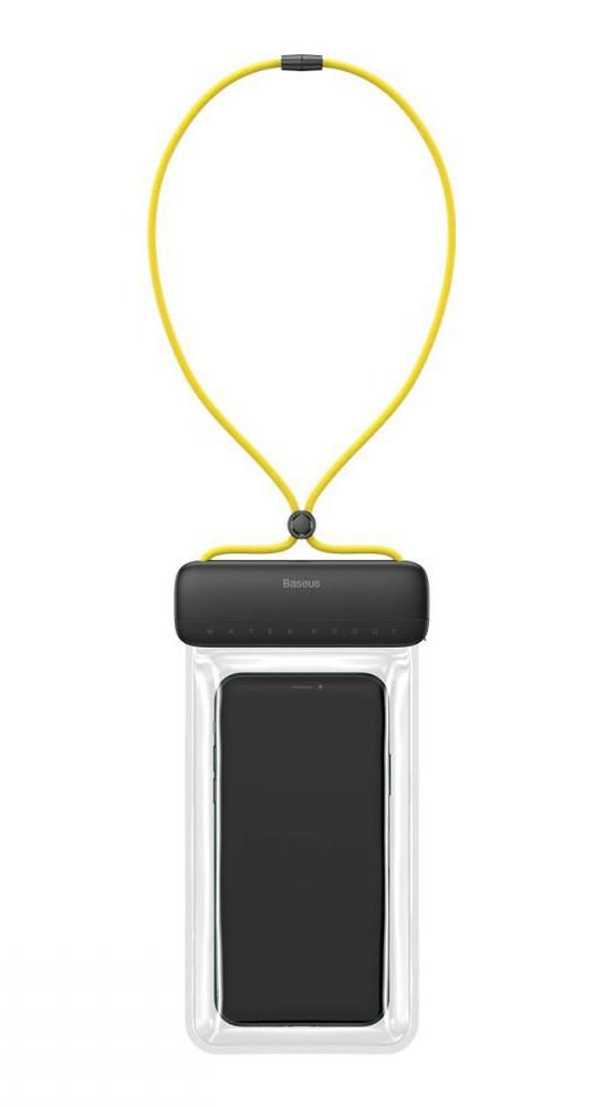 "Чехол-сумка водонепроницаемая для телефона Baseus Let's go 7.2"" Серый/ Желтый (ACFSD-DGY)"