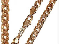 Цепочка Xuping № 004.  Плетение двойной ромб. Золото (розовое покрытие)  57 см х 5 мм