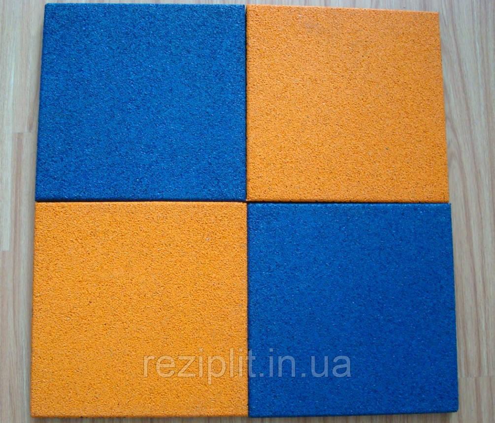 Резиновая плитка 500x500x30 мм.  Плитка из резиновой крошки от производителя.