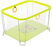 Детский манеж игровой KinderBox солнышко Желтый сова с мелкой сеткой (SUN 44302), фото 1