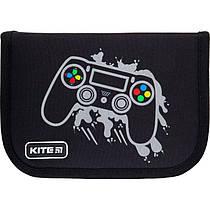 Пенал з наповненням Kite Education Gamer K21-622H-4, 1 відділення, 2 одвороту
