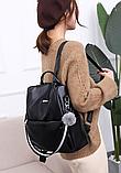 Рюкзак-сумка жіночий чорний екошкіра, фото 3