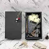 Подарочный набор: розы из мыла ручной работы с игрушкой, фото 2