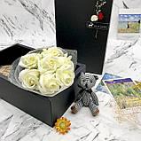 Подарочный набор: розы из мыла ручной работы с игрушкой, фото 3