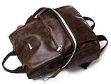 Рюкзак-сумка жіночий коричневий екошкіра, фото 4