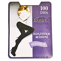 Колготки Lady Sabina 100 den microfibra Beige р.3 (LS100MF) | 5 шт., фото 2