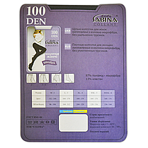Колготки Lady Sabina 100 den microfibra Tabaco р.3 (LS100MF) | 5 шт., фото 3