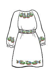 Заготовка для детского платья с пояском