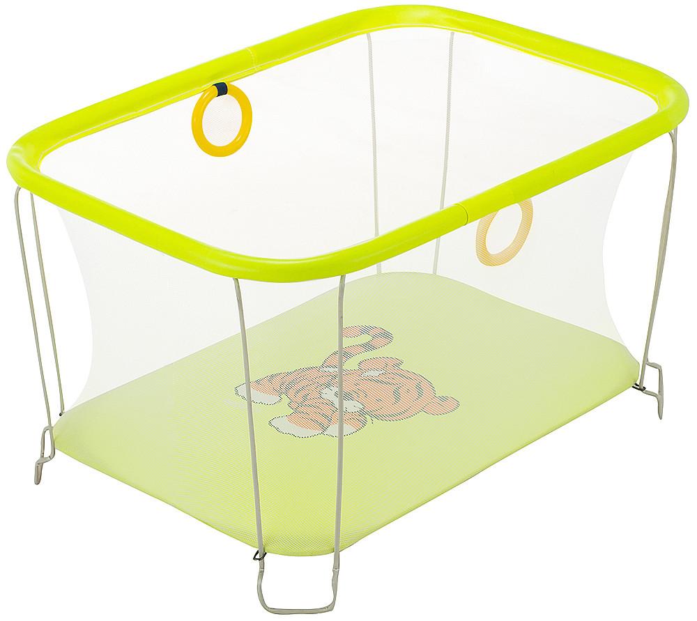 Манеж детский игровой KinderBox солнышко Желтый тигренок с мелкой сеткой. (SUN 6010931)
