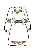 Заготовка для детского платья на белом габардине