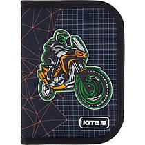 Пенал з наповненням Kite Education Motocross K21-622H-2, 1 відділення, 2 одвороту