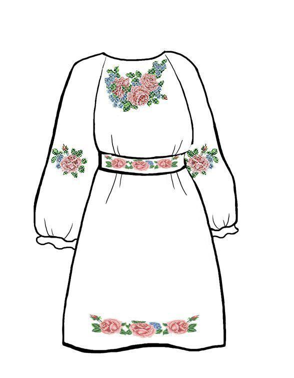 Заготовка для детского платья на габардине