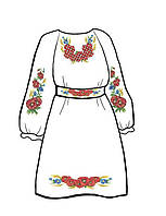Бисерная заготовка для  платья