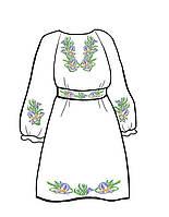 Заготовка для детского платья с цветами