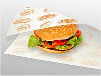 Салфетка жиростойкая, бумага для заворачивания сендвичей, гамбургеров, бутербродов 350х280мм и другие размеры