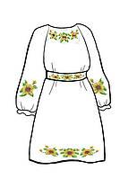 Заготовка под бисер платья для девочки