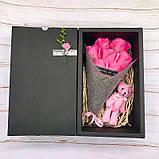 Подарунковий набір: троянди з мила ручної роботи з іграшкою, фото 3