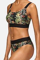 Женский раздельный купальник  топ с цветочным принтом, фото 1