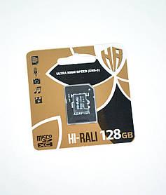 Карта памяти Micro SD 128Gb Hi-Rali Class10 c ад. (UHS-3)