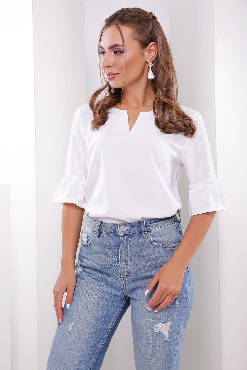 Блуза жіноча, колір: білий, розмір: 42, 44, 46, 50, 48