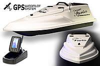 GPS (8+1) Ехолот Toslon TF500 Прикормочний кораблик Фурія Шторм Біла, фото 1