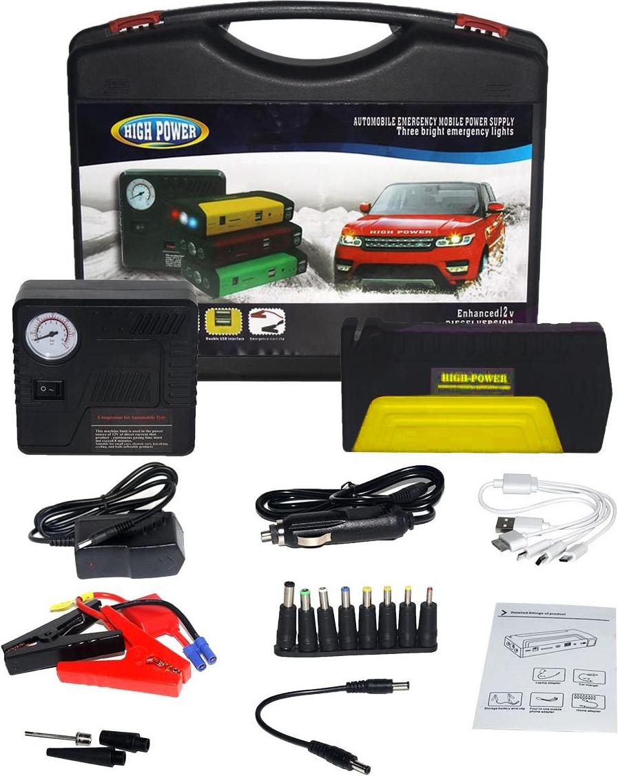 Пусковий - зарядний пристрій (ПЗУ) Jumpstarter TM15 (50800 маг) з ліхтариком + компресор (14090)