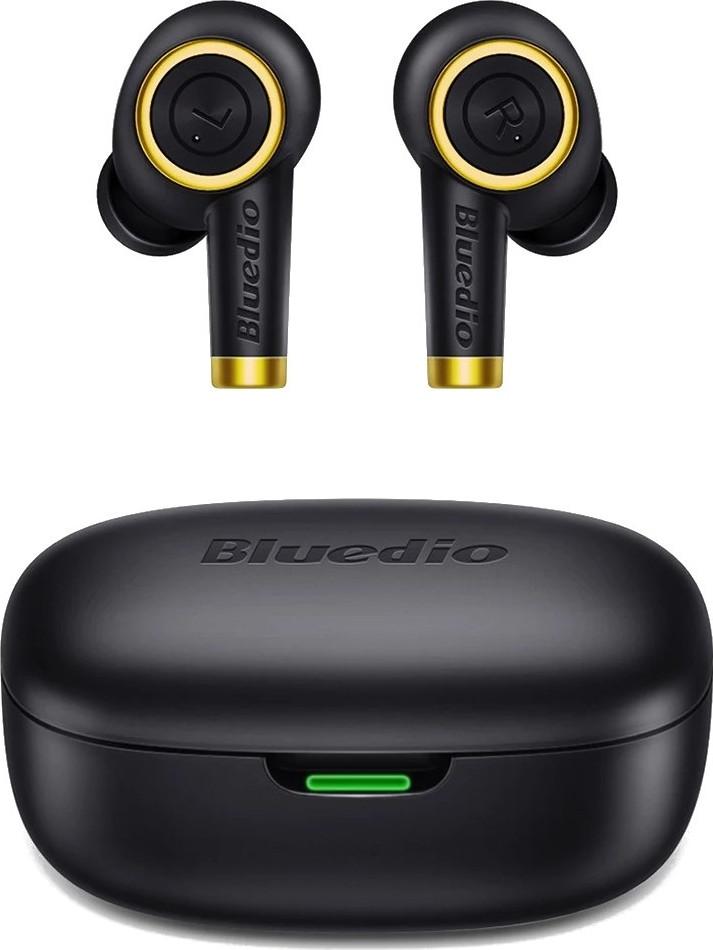 Беспроводные Bluetooth наушники Bluedio Particle с зарядным кейсом на 650 mAh (Черный)