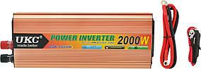 Перетворювач напруги(інвертор) UKC 12-220V 2000W + USB Gold (6852)