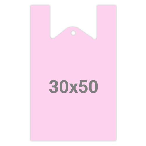 Пакет майка без рисунка - М7, 30x50, 100 шт, цвет в ассорт.