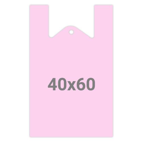 Пакет майка без рисунка М15 - 40x60, 50шт, цвет в ассорт.