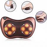 Массажная подушка. Подушка массажер Подушка для шеи. массажер в машину Massage pillow для спины и шеи, фото 3