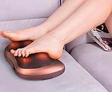 Массажная подушка. Подушка массажер Подушка для шеи. массажер в машину Massage pillow для спины и шеи, фото 6