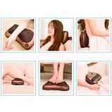 Массажная подушка. Подушка массажер Подушка для шеи. массажер в машину Massage pillow для спины и шеи, фото 2