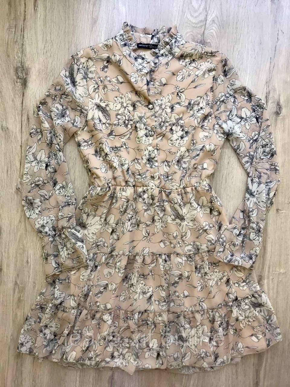 Платье женское L(р) бежевое 2939 Турция Весна-D