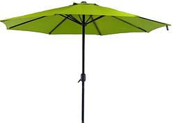 Зонт торговый антиветер Stenson MH-3841 2.7 м, зеленый