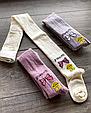 Детские демисезонные колготки KBS хлопок для девочек ассорти цветов с бантиками, фото 5
