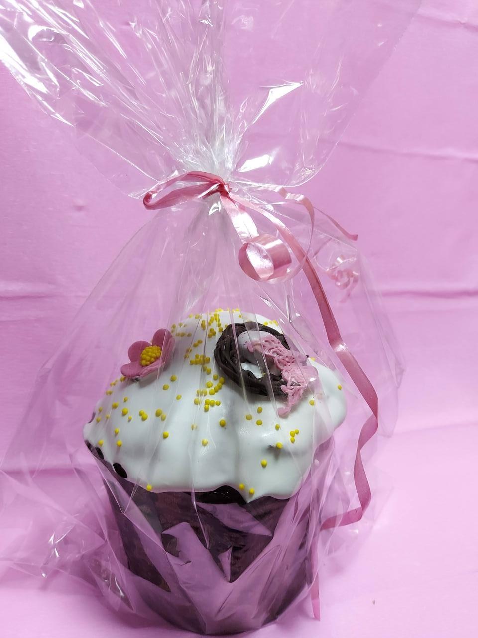 Солодка паска з родзинками, цукатами і шоколадним прикрасою 350 грам